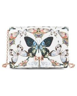 Strisa Butterfly Print Clutch