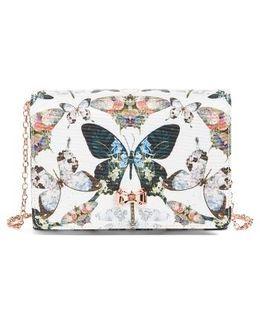 Strisa Butterfly Print Clutch