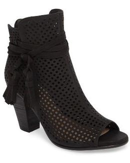 Kamey Perforated Open Toe Bootie