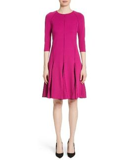 Milano Jersey Fluted Dress