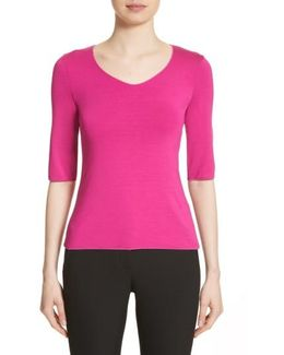 Stretch Jersey Top