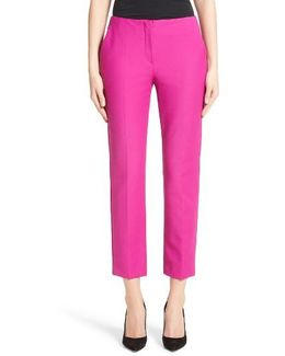 Tech Cotton Blend Slim Pants
