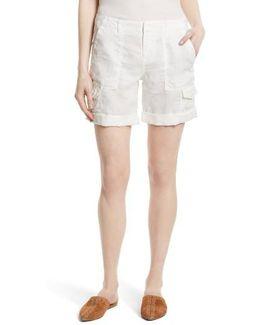 Aubeline Linen Cargo Shorts