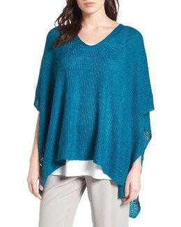 Organic Linen Knit Poncho