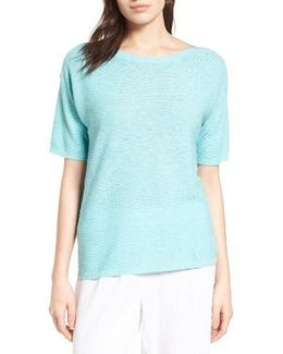 Organic Linen & Cotton Knit Pullover