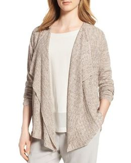 Angle Front Linen Cardigan