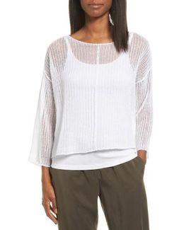Organic Linen Crop Sweater