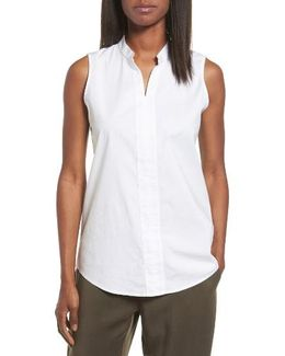 Stretch Organic Cotton Classic Collar Tunic
