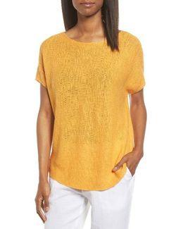 Organic Linen & Cotton Knit Top
