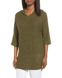 Organic Linen & Cotton Hooded Sweater