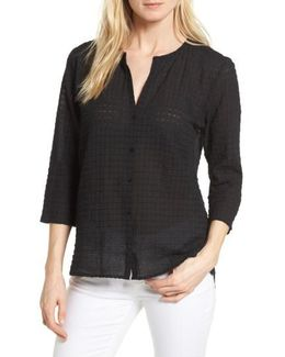 Check Textured Blouse
