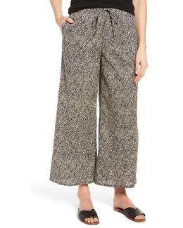 Wide Leg Print Organic Cotton Pants