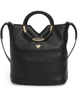 Small Elina Leather Crossbody Bag