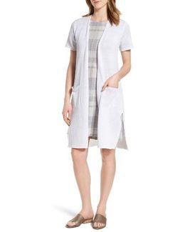 Long Organic Linen Cardigan