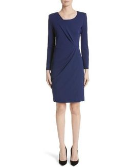 Side Gather Milano Jersey Dress