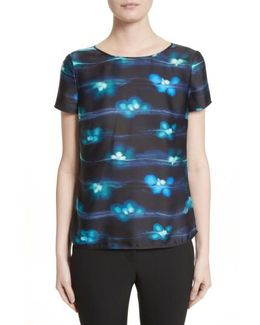 Electric Floral Print Tee