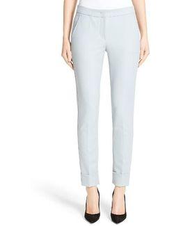 Armani Collezion Tech Cotton Cuff Pants