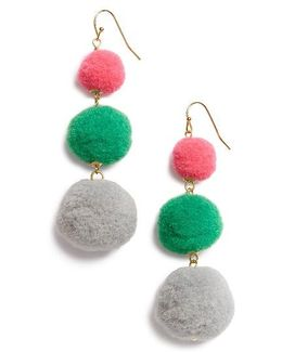 Pompom Drop Earrings