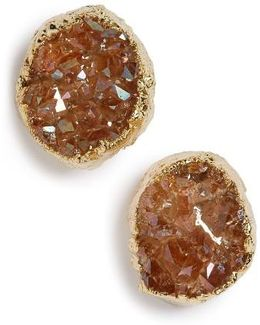 Drusy Stud Earrings