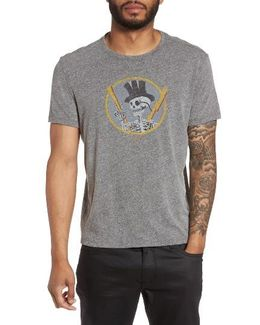 Top Hat Skull Graphic T-shirt