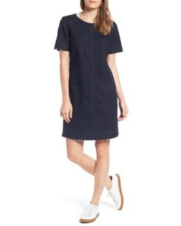 Release Hem Denim Dress