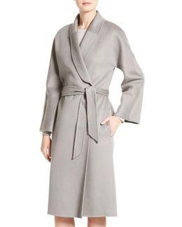 Double Face Cashmere Wrap Coat