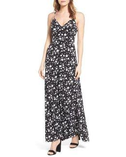Verbena Print Jersey Maxi Dress