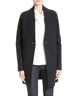 Armani Jeans Single Button Wool Coat