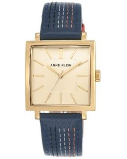 Square Leather Strap Watch