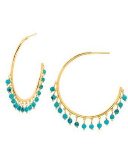 Sol Charm Hoop Earrings