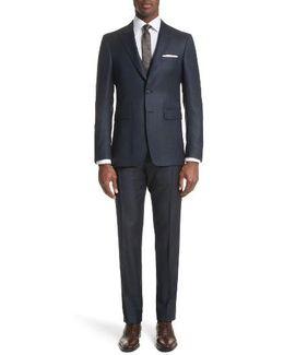 Millbank Trim Fit Wool & Silk Suit