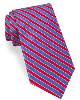 Mogador Stripe Silk & Cotton Tie