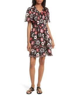 Casa Flora A-line Silk Dress