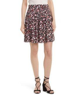 Mini Casa Flora Pleated Skirt