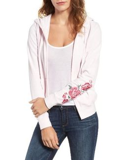 Floral Enchantment Robertson Velour Hoodie