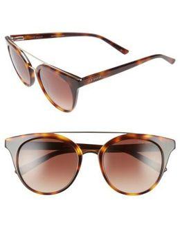 51mm Gradient Lens Round Retro Sunglasses
