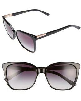 54mm Gradient Lens Square Sunglasses