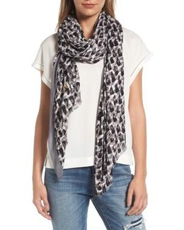 Inked Texture Oblong Twill Scarf