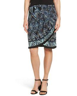 Beaming Faux Wrap Skirt