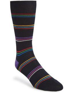 Blah Blah Blah Stripe Socks
