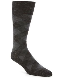Twist Plaid Socks