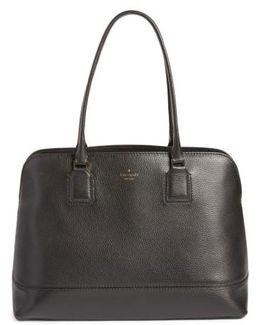 Young Lane - Marybeth Leather Tote With Removable Laptop Sleeve