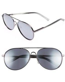 59mm Aviator Sunglasses - Gunmetal