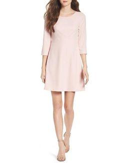 Seamed Crepe Dress
