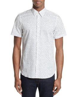 Extra Trim Fit Half Moon Print Sport Shirt