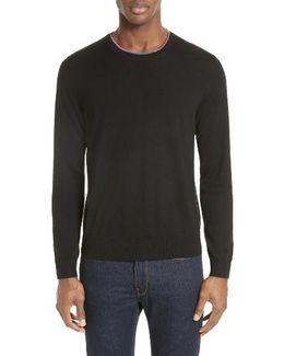 Multicolor Piping Sweater