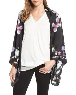 Kensington Floral Silk Cape
