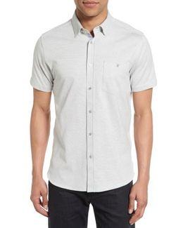 Shaxxb Extra Trim Fit Print Knit Sport Shirt