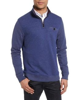 Norham Modern Slim Fit Quarter Zip Pullover