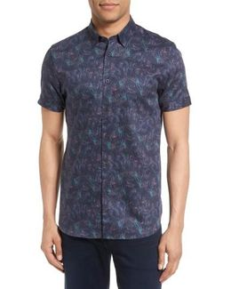 Saraf Modern Slim Fit Print Sport Shirt